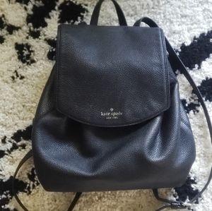 Kate Spade black mini backpack